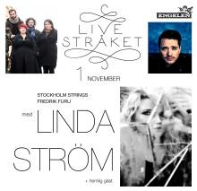 """""""Live stråket"""" på Engelen med Stockholm Strings i ledning av Fredrik Furu med gäst Linda Ström den 1 november!"""