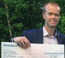 Mattias Lundberg prisas för bästa affärsidé