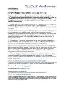 Värdebarometern 2017 Hässleholms kommun