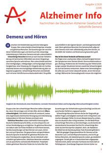 Alzheimer Info 1/2020: Demenz und Hören
