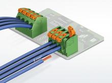 Printkorttilslutning til stærkstrømsapplikationer uden værktøj