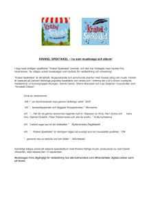 Pressinfo Krakel Spektakel Ljudbok och musikalbum
