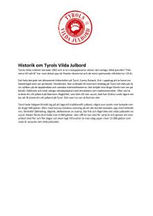 Tyrols Vilda Julbord - historik
