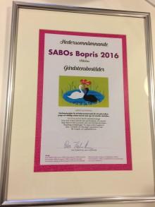 SABOs hedersomnämnande till Gårdstensbostäder