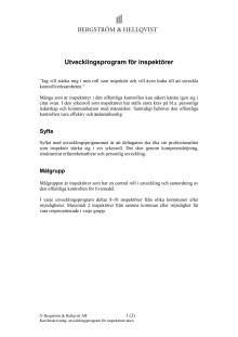 Utvecklingsprogram för inspektörer