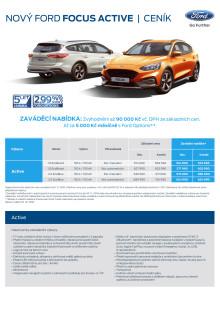 Ceník Ford Focus Active