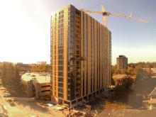 Würths ASSY träskruv ger världens högsta träbyggnad en säker infästning