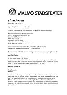 Pressmaterial till PÅ GRÄNSEN