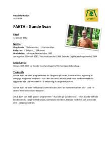 Pressfakta - Gunde Svan