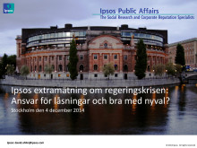 Ipsos extramätning om regeringskrisen: Ansvar för låsningar och bra med nyval?