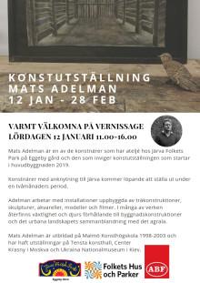 Lokal konst intar Järva Folkets Park - först ut Mats Adelman