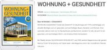 Zeitschrift WOHNUNG+GESUNDHEIT jetzt auch digital verfügbar