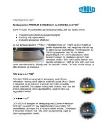 Produktblad Tyrolit Diamantblad DCU 4in1 TGD og DCH TGD