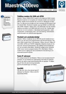 Maestro 100evo GPRS modem datablad