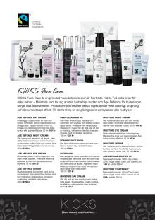 KICKS Face Care produktinformation