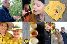 Lokala biodlare fyller Honungsbaren  på Kiviks musteri