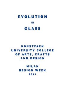 Konstfack utforskar glasets möjligheter i Milano
