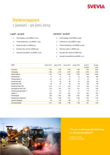 Svevia Delårsrapport januari - juni 2015