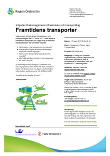 Program - Infrastruktur och transportdagen 2017
