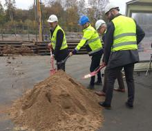 Spaden i marken för HSB brf Mariedahl