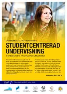 Program för konferens om studentcentrerad undervisning den 1/10