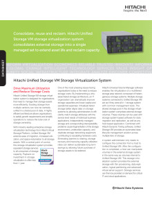 Hitachi Unified Storage VM Storage Virtualization System