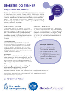 Pasientinfo - tenner og diabetes