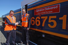 GB Railfreight celebrates relationship with Hitachi Rail Europe by naming Class 66 locomotive
