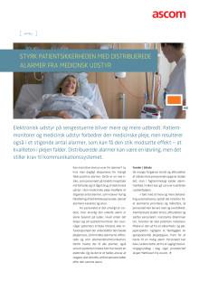 Artikel - Styrk patientsikkerheden med distribuerede alarmer fra medicinsk udstyr