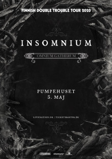 Insomnium: Finnish Double Trouble Tour 2020 kommer til Pumpehuset!
