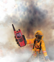 Cobham SATCOM: Cobham Unveils SAILOR Portable UHF for Fire Fighting Duties