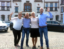 VM fest på torget i Karlshamn