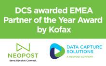 DCS awarded EMEA Partner of the Year Award by Kofax