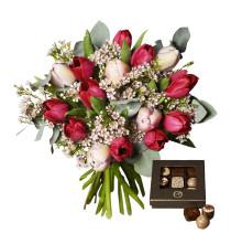 För sjätte året i rad: tulpanbukett toppade Interfloras försäljning till Alla hjärtans dag
