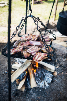 Kogetræf på Trelleborg med stjerne vikingekok