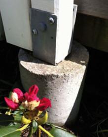 Gjut plintar till altanen med betong från Weber