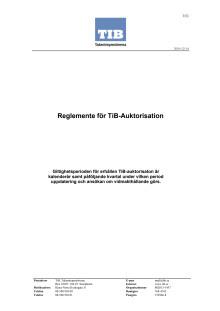 Reglemente för TIB-auktorisation