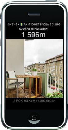 Svensk Fastighetsförmedling först i Norden med unik tjänst för iPhone