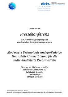 Pressemappe zur Pressekonferenz