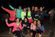 Runners 'glow' the extra mile