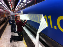 Utmaning att få landslagsspelarna på tåget!