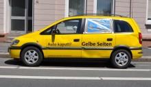 Gelbe Seiten Schrottautos hinterlassen Eindruck!