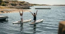 Testa SUP-yoga i sommar