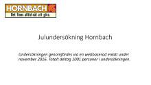 Diagram: julundersökning Hornbach