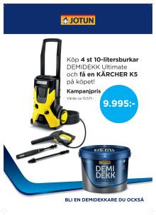 Högtryck i butikerna med Demidekk Ultimate och Kärcher