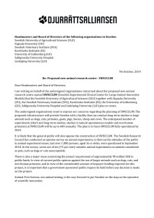 Öppet brev mot SWECCLIM