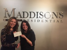 Maddisons Residential donates £3200 to ellenor