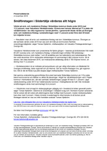Värdebarometern 2015 Södertäljes kommun