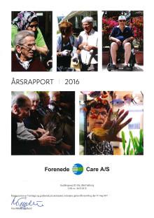Forenede Care - Årsrapport 2016