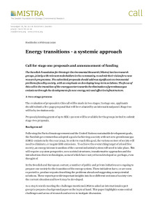 Call text Energy transitions 2020
